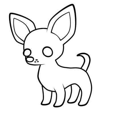 Aprende Como Dibujar Un Perro Chihuahua Paso A Paso 5 Como Dibujar Un Perro Chihuahua Dibujo Dibujos De Perros