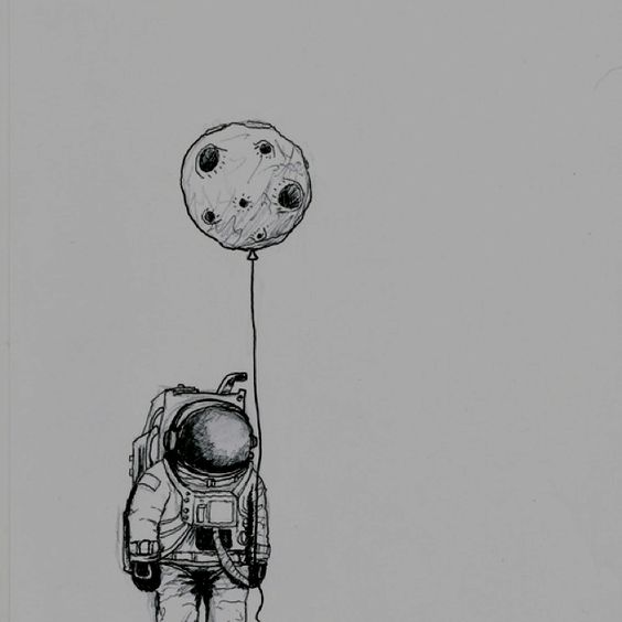 astronaut   illustration  moon