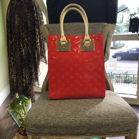 Bag, Red Tote Handbag