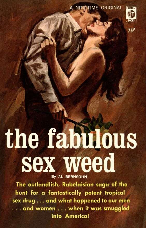 THE FABULOUS SEX WEED #pulp #cover #art: