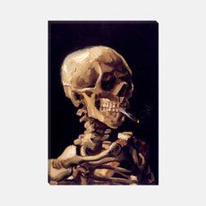 What Vincent van Gogh knew long before Current med tests - Skull With Cigarette 1885 by Vincent van Gogh Canvas Print