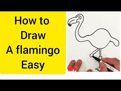 How To Draw A Flamingo Step By Step Easy Youtube In 2020 How To Draw Flamingo Easy Youtube Drawings
