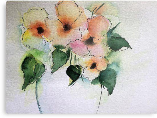 Fruhlings Blumen 2 Metallbild Von Britta75 Wie Man Blumen Malt