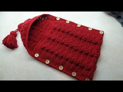 #Crochet Cable Stitch Newborn Baby Bunting Cocoon #TUTORIAL - YouTube