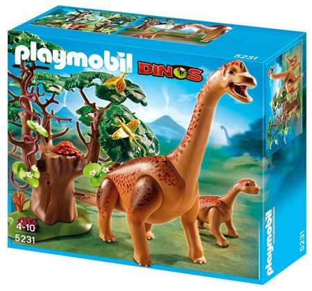 Playmobil dinosaurs brachiosaurus with baby by playmobil - Dinosaur playmobile ...