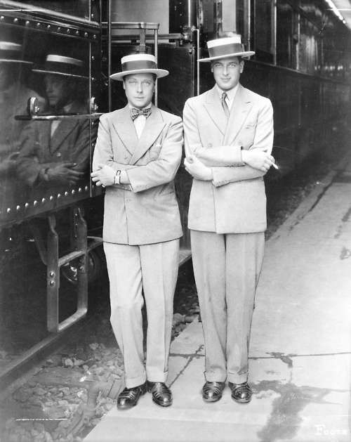 The Prince of Wales (later King Edward VIII/Duke of Windsor) and Prince George, the future Duke of Kent, 1927.