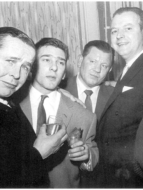 Reg Kray with friends
