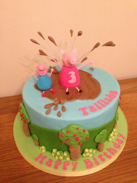 Peppa pig theme cake | My cakes and sugar art. | Pinterest ...