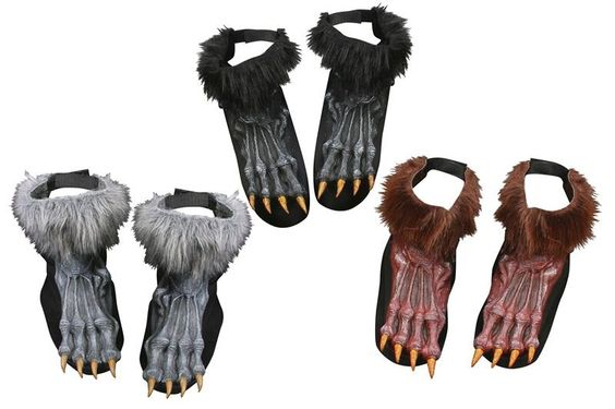 These scary looking Werewolf Shoe Covers feature fur at the ankle, velcro closure at ankle to provide a good fit and an elastic strap to secure under your shoe. Available in Brown, Grey and Black. One size fits most adults.