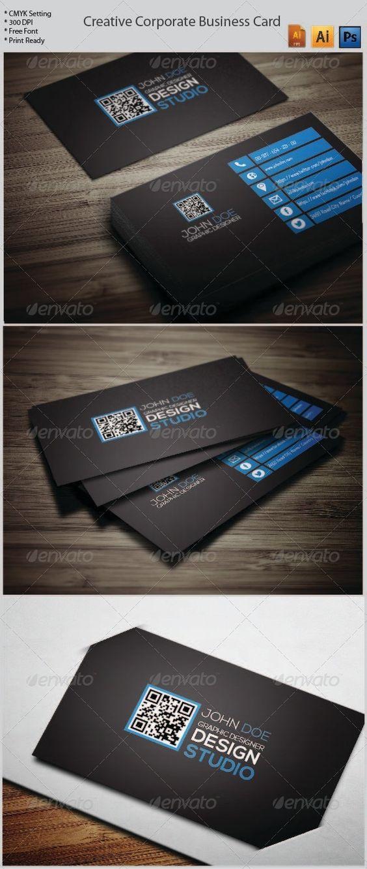 Creative Corporate Business Card 20  #GraphicRiver
