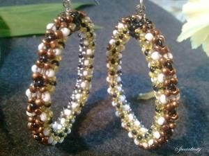 Chenille Stitch Earrings | specialtivity - Jewelry on ArtFire