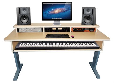 Marvelous The AZ 2 Maple Keyboard Studio Desk Features Stunning Design As Well As A  Useful 88 Keyboard Shelf That Pulls Out. | Keyboard Desks | Pinterest |  Studio ...