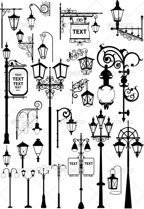 I'm thinking about the different types of lanterns I could do for this concept.: