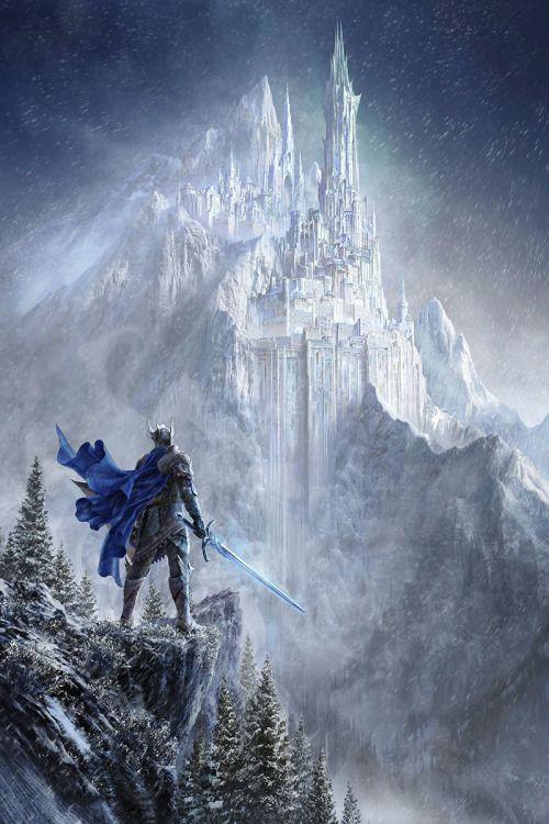 """fantasyartwatch: """" Winter Castle by Silentfield """":"""