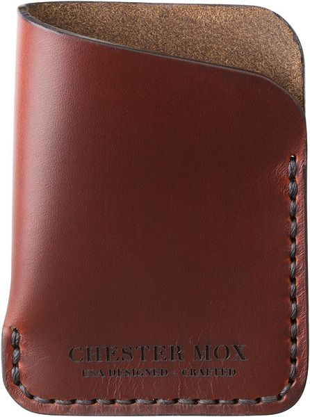Dogleg Horween Leather Wallet, by Chester Mox