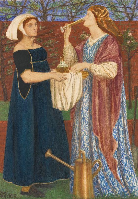 Find other inspired Tipsy Tarts here: www.thetipsytart.etsy.com Dante Gabriel Rossetti - The Bower Garden.jpg
