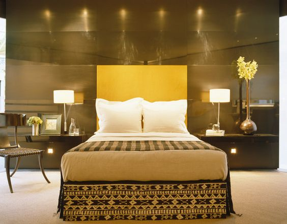Yellow Contemporary - Modern Bedroom