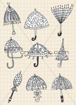 umbrella doodles