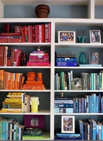 Rainbow Bookshelf forever.