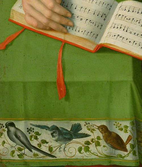 Bacchiacca (Francesco Ubertini), Portrait of a Woman with a Book of Music (detail), about 1540–45