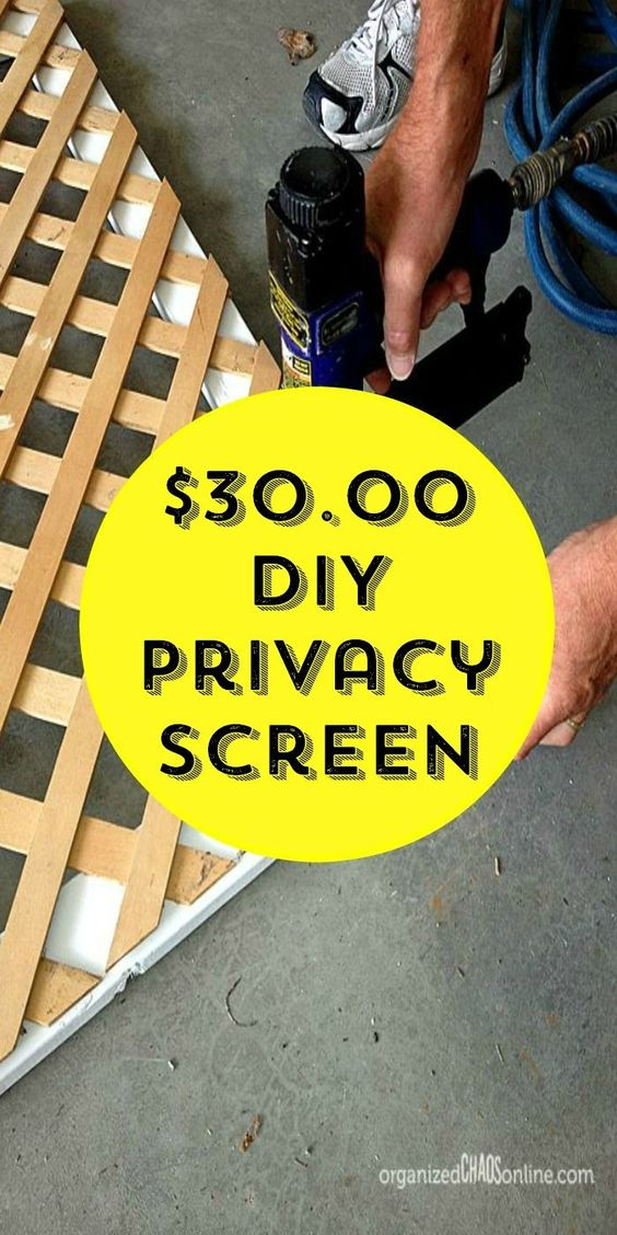 How To Make An Easy Patio Privacy Screen Sun Patio