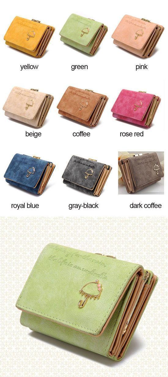 Fashion Girl Card Holders Women Wallet Purse Trifold Ladies Wallet Coin Purse