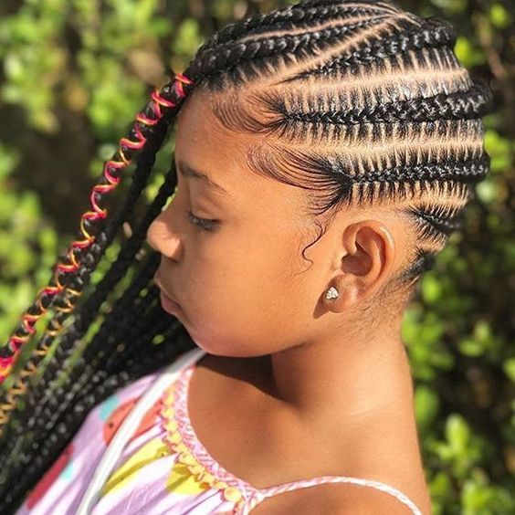 Braided Hairstyle Children Kids For School Little Girls Children S Hairstyles Black Kids Braids Hairstyles Kids Braided Hairstyles Natural Hairstyles For Kids