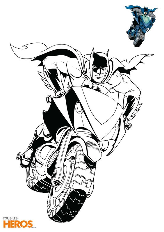 Decouvrez Les 5 Coloriages Batman De Tous Les Heros Dans Cet Article Et Coloriez Votre Super Heros En Plei Coloriage Batman Coloriage Moto Coloriage Spiderman