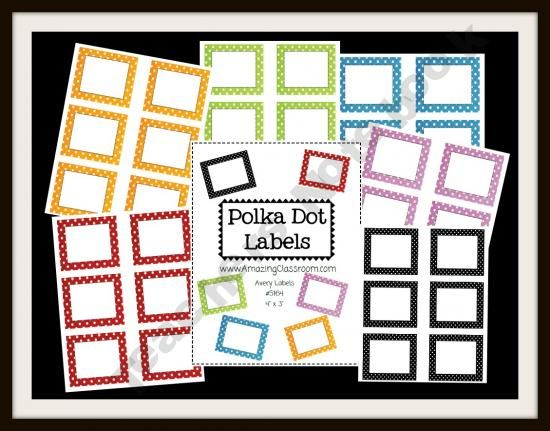 Colorful Polka Dot Classroom Labels product from WorkaholicNBCT on TeachersNotebook.com