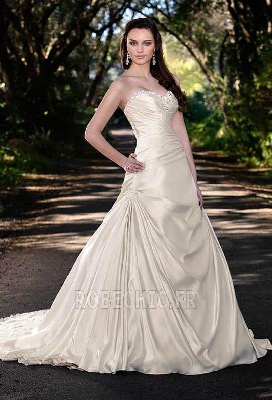 Robe de mariée 2014 Formelle Foisonné Hiver Milieu Perle