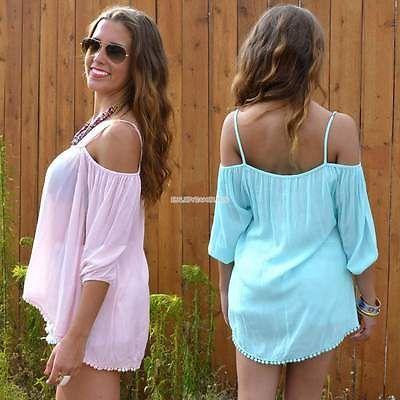 Ladies Fashion sling back Long strapless fringed edge long-sleeved T-shirt EN24H