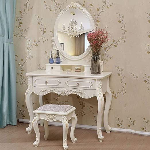 Totovy Modern European Style Environmentally Friendly Dressing Table Luxury Bedroom Dressing Table Fre Bedroom Dressing Table Dressing Table Luxurious Bedrooms