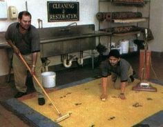 This is the most comprehensive article on how to clean wool rugs traditionally. No advise is given on the snow method, but for year round cleaning this one is great.