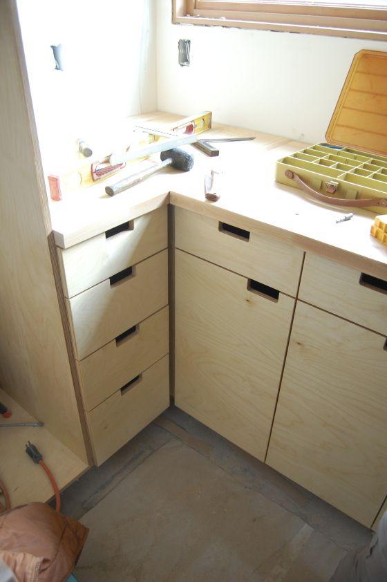 Closet doors baltic birch and beauty on pinterest for Birch veneer kitchen cabinets
