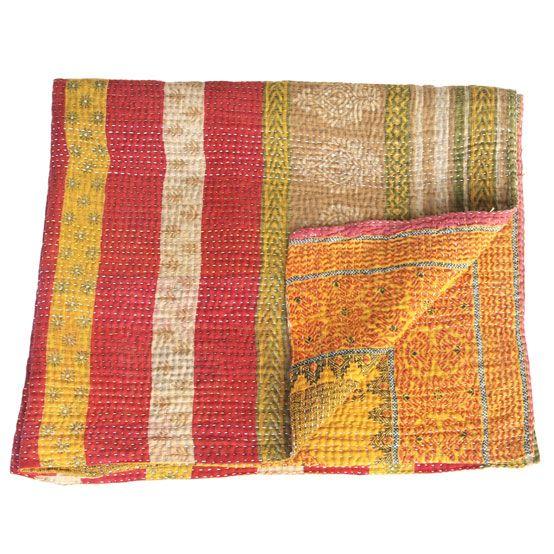 baby blanket cotton kantha sari buti_baby quilt
