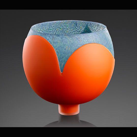 Introvert - Orange, Blue Murrine (granular)