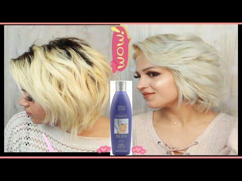 Del Silver Shampoo كيفية سحب لون الشعر في البيت واستخدام الشامبو البنفسي لشعر ثلجي سلفر رصاصي Youtube Silver Shampoo Shampoo Sofa Throw Pillows