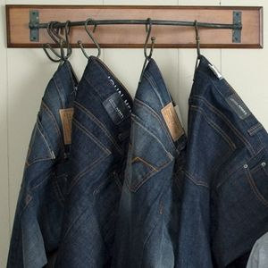 my husband, who does not fold clothes needs one of these for his pants! :): Good Ideas, Retaildisplay Walldisplay, Retail Display, Closet Ideas, Boutique Ideas, Organization Ideas, Fold Clothes