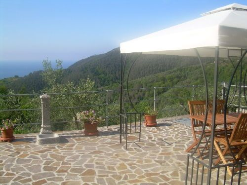 The terrace - Apartment Ariabuona in Moneglia (Genua), Italien