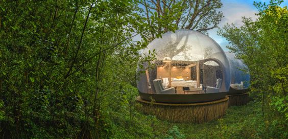 Finn Lough o cómo alojarse en una burbuja rodeada de naturaleza