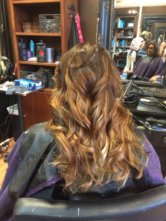 just got my hair done! Caramel balayage ombré