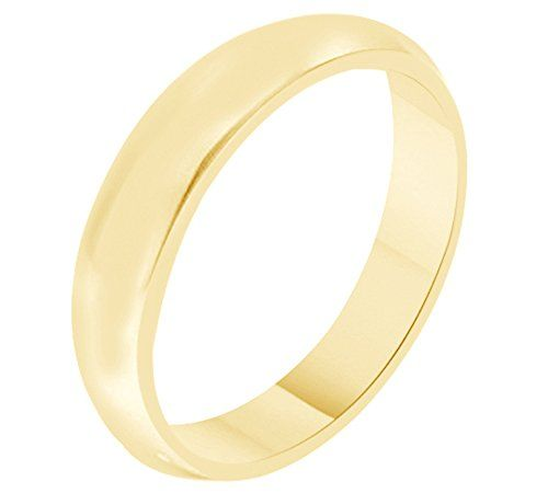 Jewel Zone Us Solid 10k Gold 4mm Comfort Fit Men Womens Wedding Bands Wedding Ring Bands Comfort Fit