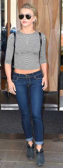 Julianne Hough keeps it casual in New York on Thursday.