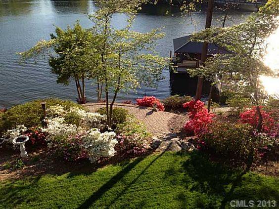 Waterfront backyard landscape patio fire pit | Landscaping ... on Waterfront Backyard Ideas id=73663