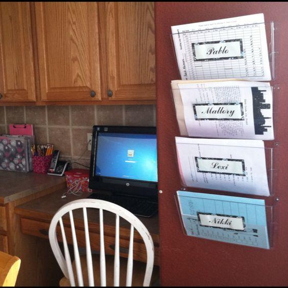 Homework management for 4 kids achieved! God bless #Pinterest.