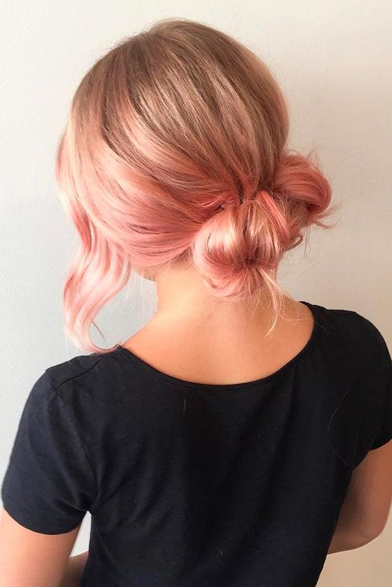 Low Bun Hairstyles #easyhairstyles #bunhairstyle ★ Hairstyles for medium length hair are the stylish comprise between short and long styles! And our ideas are really worth giving a try in 2019! Easy styles to wear everyday, stylish options with layers, ideas to pair with bangs, and lots of straight and wavy looks are here. #glaminati #lifestyle #hairstylesformediumlengthhair