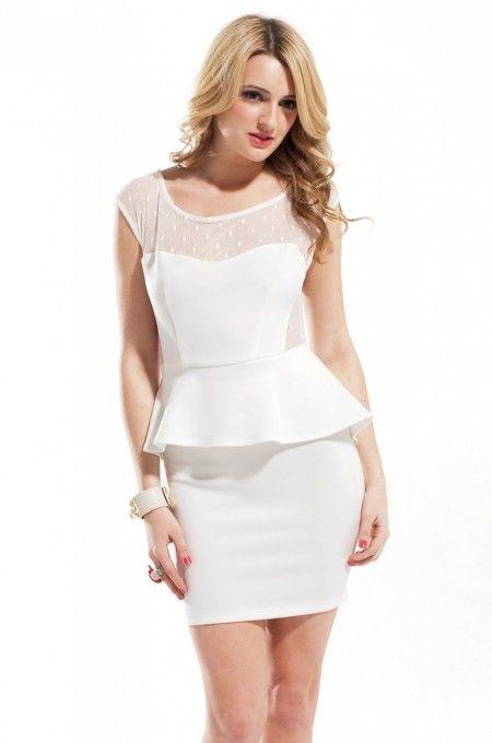 Akira Peplum Skirt Lace Bust Sweetheart Dress #shopakira #wedding