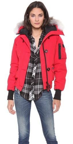 cheap canada goose men's chilliwack bomber red outlet