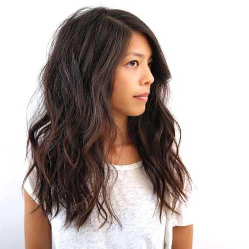 Dicke Wellige Mittellang Haare Frisuren Lange Haare Schnitt Haarschnitt Haarschnitt Lang