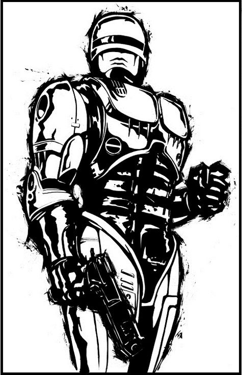 6 Epic Robocop Coloring Pages For All Ages Com Imagens Posters